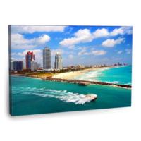 Fotografyabaskı Miami Sahili Florida Tablosu 75 Cm X 50 Cm Kanvas Tablo Baskı