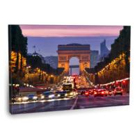 Fotografyabaskı Şanzelize Caddesi Tablosu Paris 75 Cm X 50 Cm Kanvas Tablo Baskı