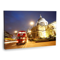 Fotografyabaskı Kırmızı Otobüs Tablosu Lonrda 75 Cm X 50 Cm Kanvas Tablo Baskı