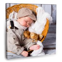 Fotografyabaskı Uyuyan Bebek Tablosu 70 Cm X 70 Cm Kanvas Tablo Baskı