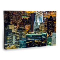 Fotografyabaskı Gece New York Tablo 2 75 Cm X 50 Cm Kanvas Tablo Baskı