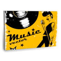 Fotografyabaskı Music Vector Tablo 75 Cm X 50 Cm Kanvas Tablo Baskı