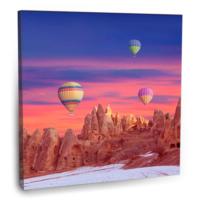 Fotografyabaskı Sıcak Hava Balonları (Kapadokya) Tablosu 70 Cm X 70 Cm Kanvas Tablo Baskı