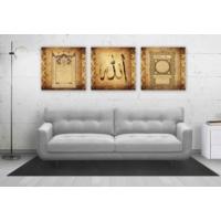 Artredgallery (3 Parçalı) 40 x 130 Allah, Hilye-İ Şerif Ve Esmaül Hüsna Tablo