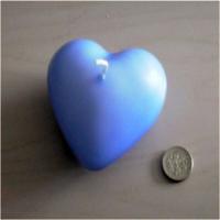 Tvshopmarket Mavi Suda Yüzen Kalp Mum