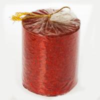 Tvshopmarket Kırmızı Renk Simli Dekoratif Mum