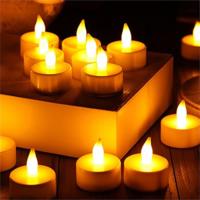 Tvshopmarket 12 Li Led Tealight Sarı Işık Mum