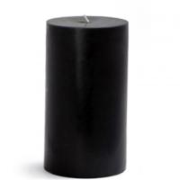 Tvshopmarket Siyah Silindir Mum (10X25 Cm)