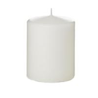 Tvshopmarket Beyaz Kütük Mum ( 8 X 8 )
