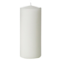 Tvshopmarket Beyaz Kütük Mum ( 8 X 16 )