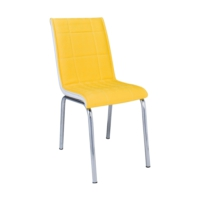 Aras Sarı Kare Pedli Sandalye