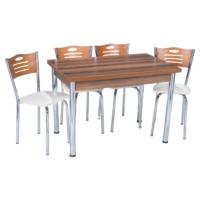 Aras Ceviz Açılır Eko Masa Takımı (6 Sandalye)