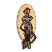 Purupa Sepetli Kadın Dekoratif Obje Hediyelik