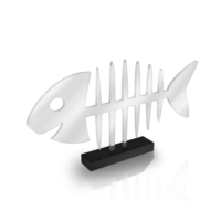 Purupa Kılçık Balık Akrilik Dekoratif Obje Hediyelik