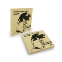 Purupa Deve Kuşu Taş Baskı Bardak Altlığı