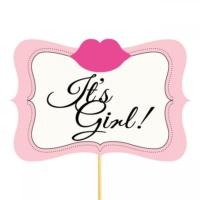 It'S Girl Dudak Konuşma Balonu Parti Çubuğu
