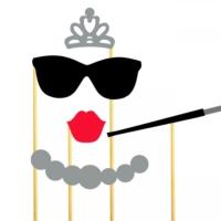 Audrey Hepburn Konuşma Balonu Parti Çubukları