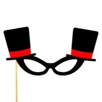 Şapkalı Gözlük Konuşma Balonu Parti Çubuğu