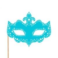 Maske Konuşma Balonu Parti Çubuğu Mavi