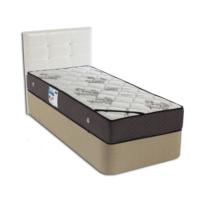 Derman Yatak Tek Kişilik Kumaş Baza + Başlık + Relax Full Ortopedik Yatak 90x190