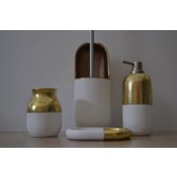 Giz Home Divone Banyo Seti - Beyaz/Altın