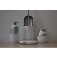 Giz Home Divone Banyo Seti - Beyaz/Gümüş