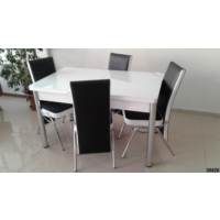 Teknoset Mutfak Masa Takımı Sm26Siyah-Beyaz