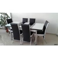 Teknoset Mutfak Masa Takımı Sm27Siyah-Beyaz