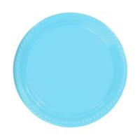 KullanAtMarket Açık Mavi Plastik Tabak 22 cm -10 Adet