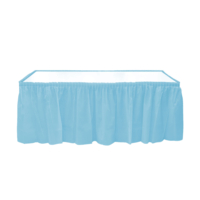 KullanAtMarket Bebek Mavisi Plastik Masa Eteği -1 Adet