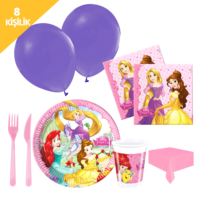 KullanAtMarket Prenses Düşler Kağıt Parti Seti 8 Kişilik - 97 Adet