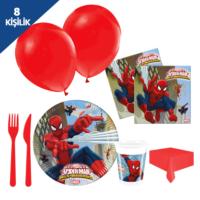 KullanAtMarket Spiderman Savaşçı Parti Seti 8 Kişilik - 97 Adet