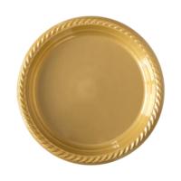 KullanAtMarket Altın Plastik Tabak 22 cm -10 Adet