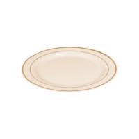 KullanAtMarket Porselen Görünümlü Gold Plastik Tabak 19 cm - 6 Adet