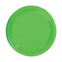 KullanAtMarket Yeşil Plastik Tabak 22 cm -10 Adet