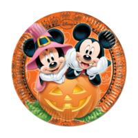 KullanAtMarket Mickey Halloween Kağıt Tabak 23cm - 8 Adet
