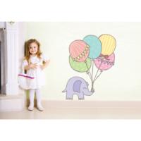 Şirin Fil ve Balonlar Duvar Sticker 66 x 80 cm