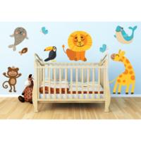 Sevimli Hayvanlar Alemi SHA06 Duvar Sticker 80 x 80 cm
