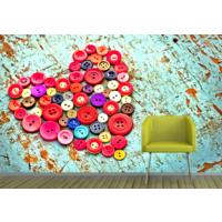 Kalp 002 Duvar Sticker 145x145cm
