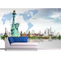 New York Art Duvar Sticker 250x250cm