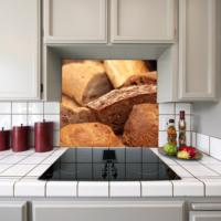 Kokmaz Bulaşmaz Silinebilinir Mutfak Ekmekler Sticker 58 x 52 cm