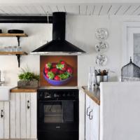 Kokmaz Bulaşmaz Silinebilinir Mutfak Çilek Sticker 58 x 52 cm