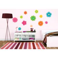 Renkli Çiçekler Duvar Sticker 21 x 26 cm