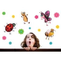 Uğur Böceği ve Kankaları Duvar Sticker 21 x 26 cm