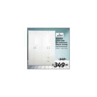 Jadel 805418 Dort Kapı Ikı Cekmece Beyaz Gardrop