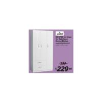 Jadel 808792 Uc Kapı Ikı Cekmece Beyaz Gardrop