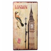 Decotown Londra Saat Kulesi Ahşap Pano 30*60 (18057)