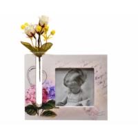 Decotown Yapay Çiçek Ahşap Fotoğraf Çerçevesi