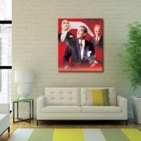 Tablom Atatürk Kolaj Portre Kanvas Tablo