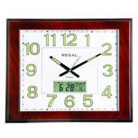 Regal 0555 Awzf Fosforlu Isı Ölçer Takvimli Duvar Saati
